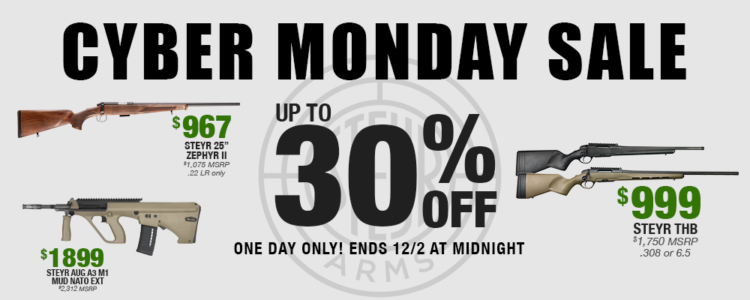EXCLUSIVE: Steyr Firearms on Deep Discount Today Only!