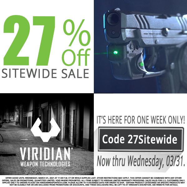 Roar! Viridian WeaponTech's 27% Off Sale Starts NOW